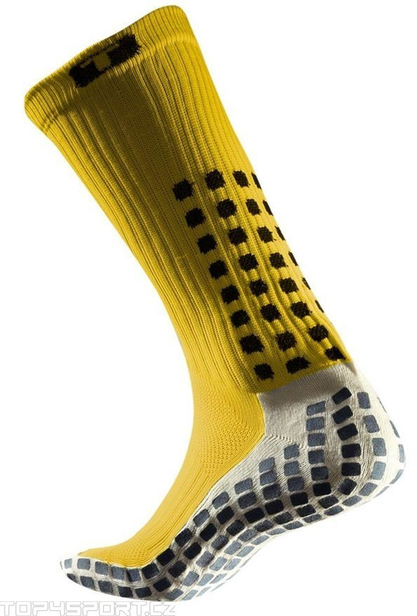Socken Trusox CRW300 Mid-Calf Thin Yellow